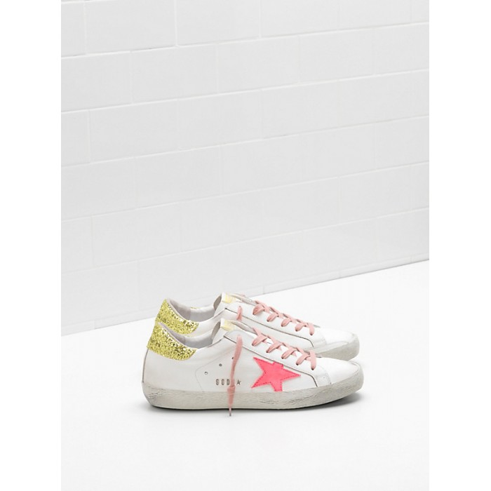 Women Golden Goose GGDB Superstar Upper In Calf Leather Suede Star Rose Red Star Logo Sneakers