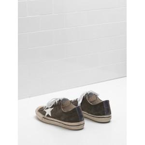 Women Golden Goose GGDB V Star 2 Star In Glossy Material Glitter Sneakers