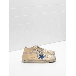 Women Golden Goose GGDB V Star 2 In Laminated Cotton Canvas Star Sneakers