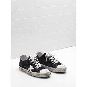 Women Golden Goose GGDB V Star 2 Calf Suede Upper Star In Leather Sneakers